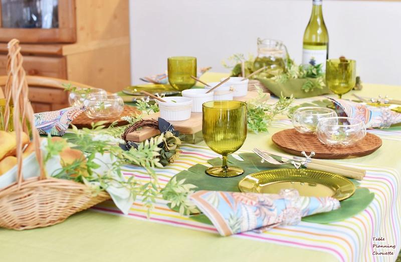 初夏のランチテーブル