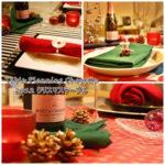 クリスマスカラーのテーブル