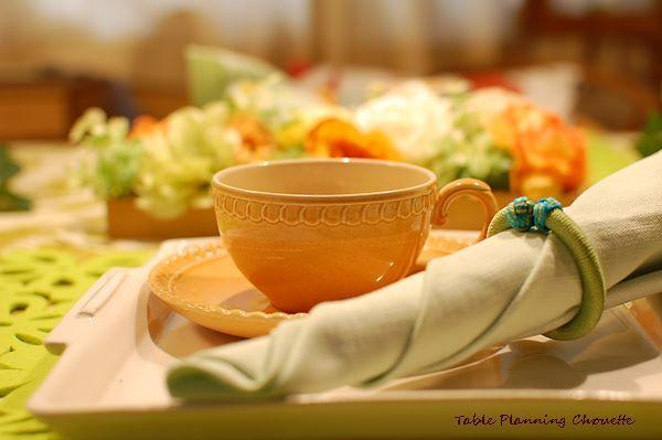 母の日のテーブル