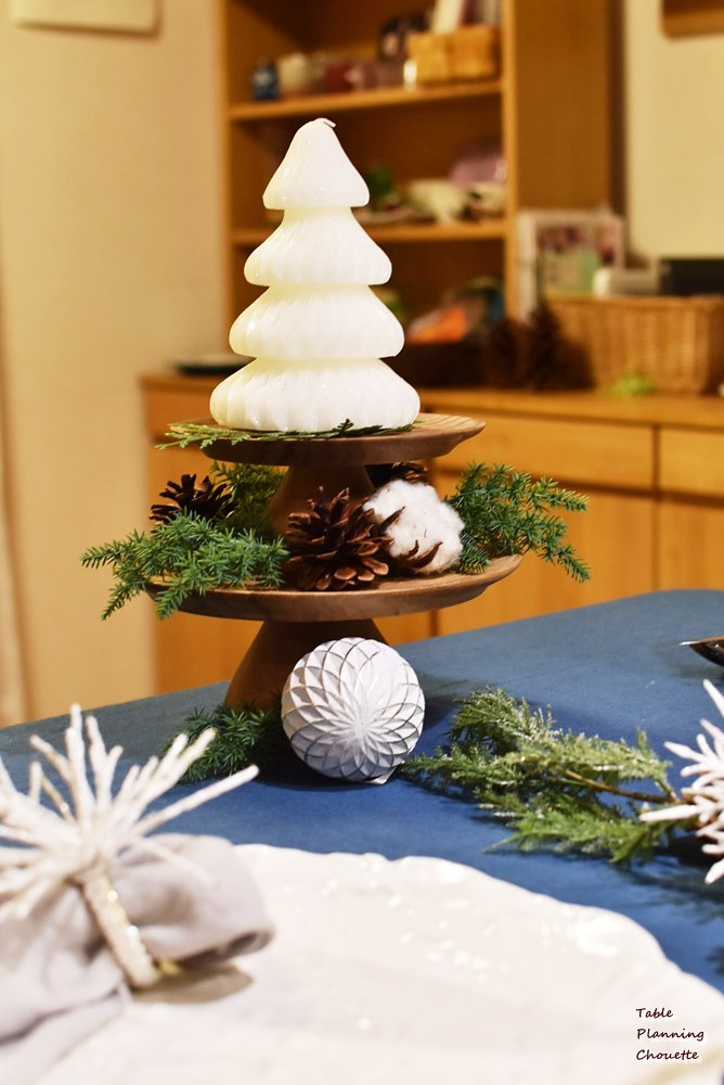クリスマスツリー型キャンドル
