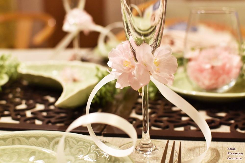 お花見のテーブル